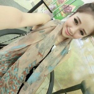 Leopard & Tree Yellow Color Cotton Scarf