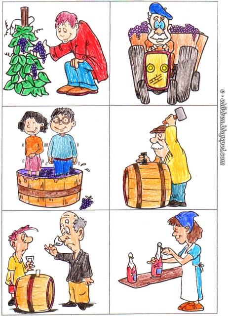 Los Niños: Καρτέλες (έγχρωμες) για τον κύκλο του κρασιού 2