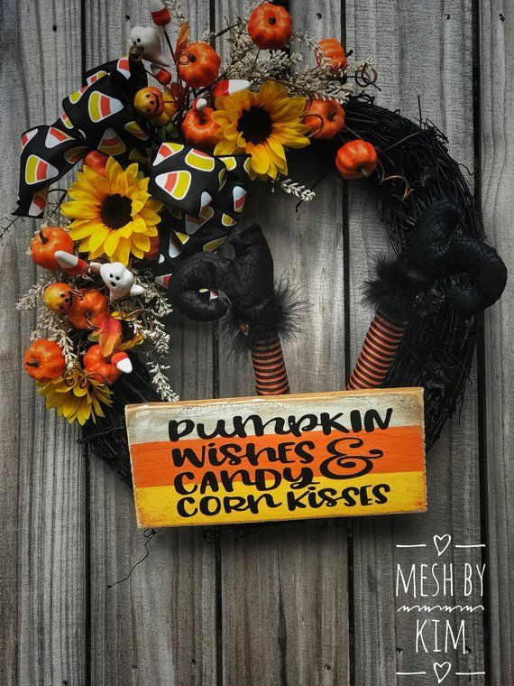candy corn wreath candy
