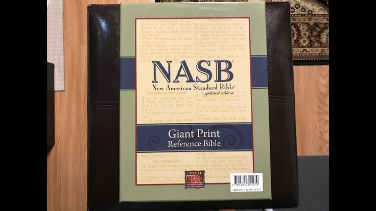 NASB Giant Print Reference Bible Review - YouTube