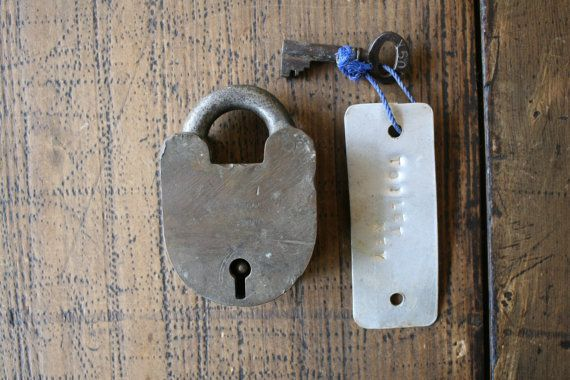 Jacksons 4 Lever Padlock with Key Large Industrial by FoundByHer