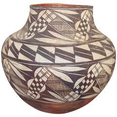 Antique Native American Pottery Olla, Acoma, 19th Century