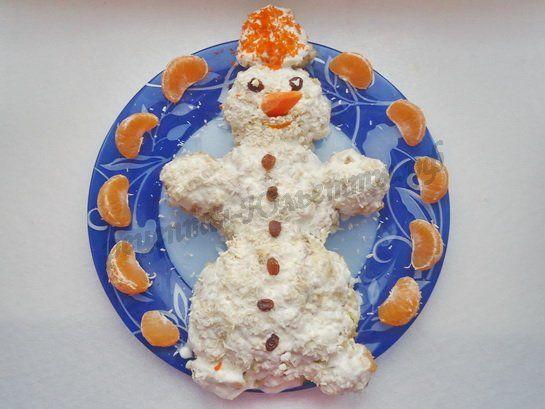 торт снеговик фото - Christmas cake in the form of a snowman