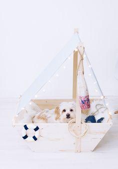 DIY Hundebett: Leine