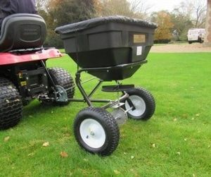 Towable disc spreader for fertiliser salt and grit spreading. The ATV spreaders can be towed or mounted on a quad bike to disperse grass seed, fertiliser onto the land to maintain the fields encouraging healthy growth. For more info: http://www.fresh-group.com/spreaders.html