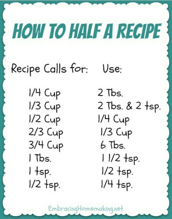 A great fast way to half a recipe.