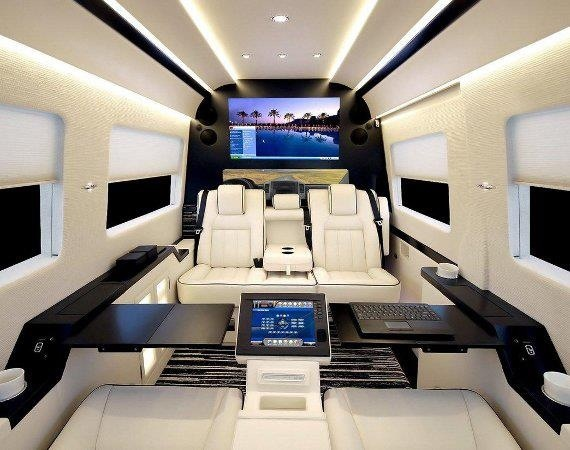 custom sprinter interior limousine pinterest