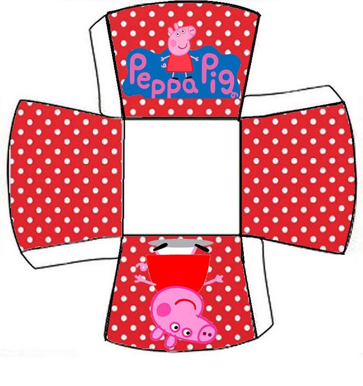 Peppa Pig en Fondo Rojo con Lunares Blancos : Kit para Imprimir Gratis.
