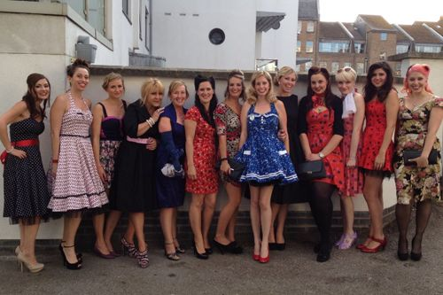 Lovely dresses for a hen party theme