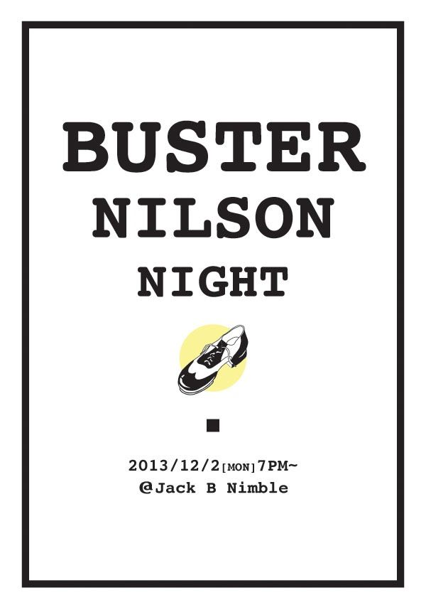 BusterNilsonNight tap jam session poster
