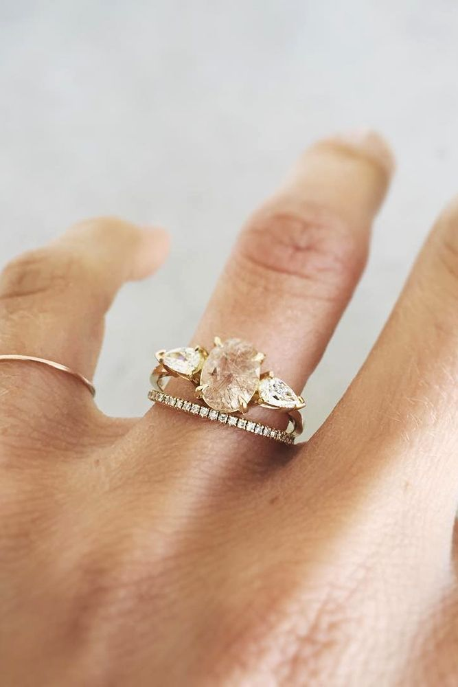 Oval Engagement Rings As A Way To Get More Sparkle ❤ See more: http://www.weddingforward.com/oval-engagement-rings/ #wedding #oval #engagement #rings