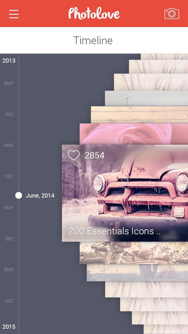 时间轴列表界面设计,来源自黄蜂网http://woofeng.cn/