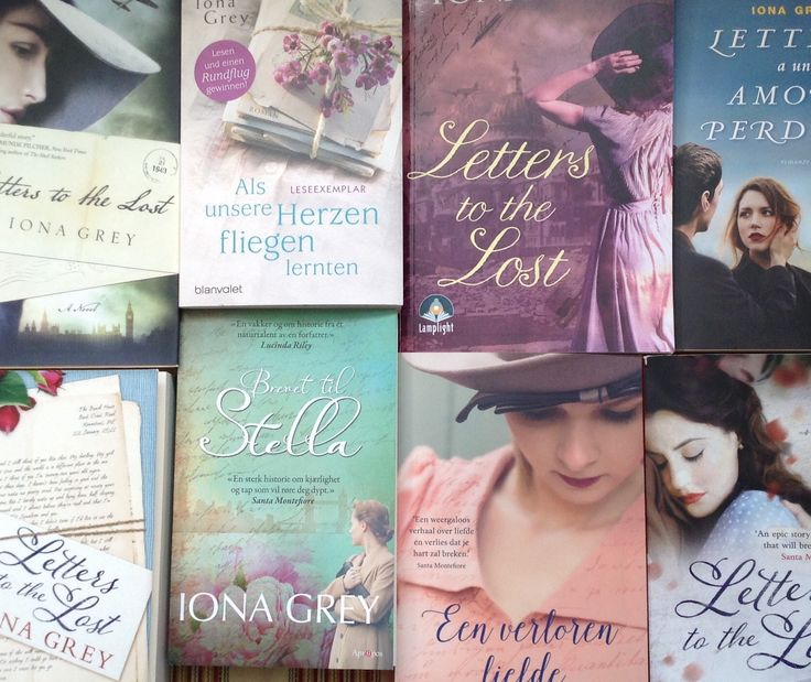 Different covers for the different worldwide market editions of Letters to the lost