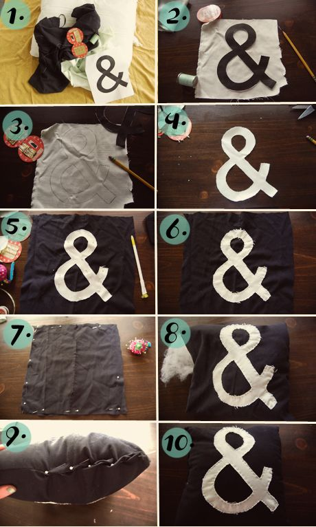 13 best diy ampersand projects images on pinterest craft ideas ampersand pillow diy solutioingenieria Images