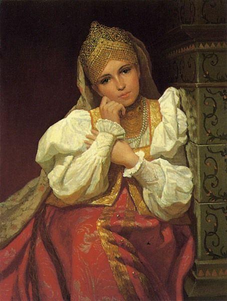 К. Маковский, Русская красавица в кокошнике