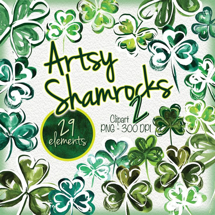 29 Artsy Watercolor Shamrocks, clipart for St. Patricks.   Please keep checking back as I have a lot of art and am adding more everyday! I literally have thousands if clipart artworks that I have created from over 35+ years as a designer!  Print this art print on your home printer or at favorite print shop - a very economical way to decorate any space in your home, kitchen, childs room or office. Also use for Valentine crafts, journaling, scrapbooks, etc.  ♥ Printable Art • Download, Save…
