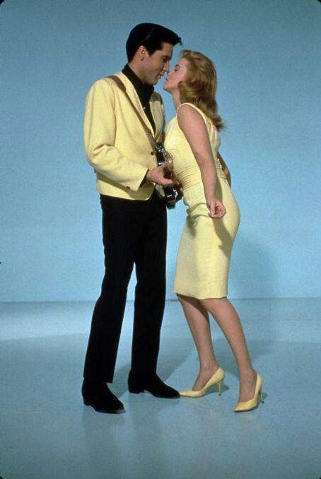 "Elvis Presley and Ann-Margret in a publicity photo for ""Viva las Vegas"", 1964."