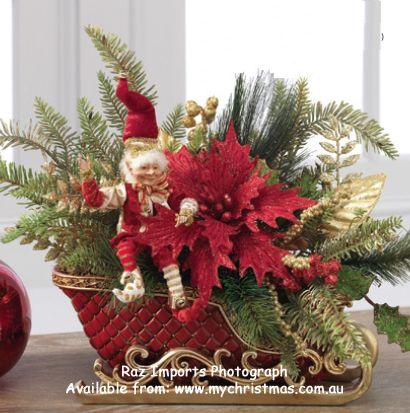Raz Imports sleigh display.  www.mychristmas.com.au