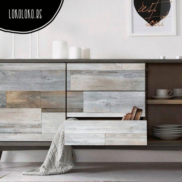 Vinilo adhesivo para muebles de madera vintage / Vintage wood adhesive vinyl for furniture. #lokoloko
