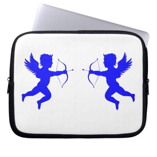 #zazzle #Blue #Angels  #White #Neoprene #Laptop #Sleeve #10 inch #office #home #travel #gift #giftidea #cupid
