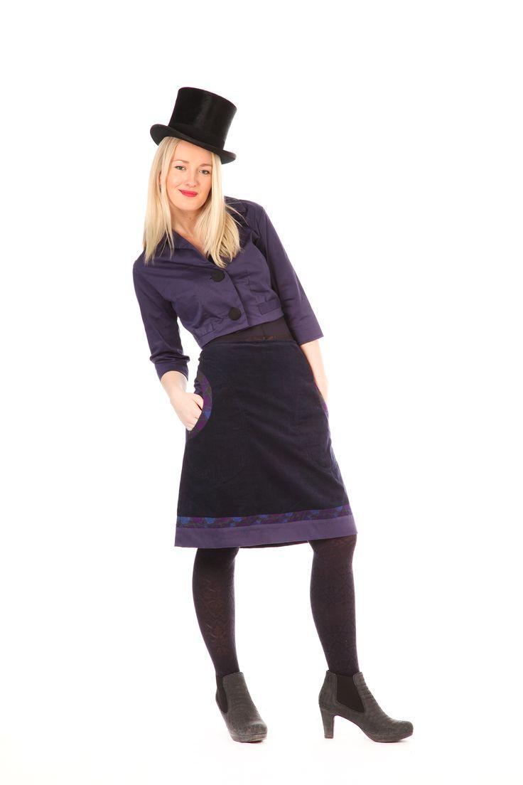 Midnattsblått fløyels-skjørt | Se min kjole