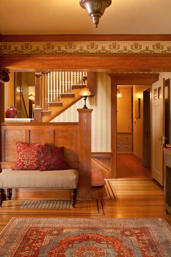 294 best arts and crafts style images on pinterest - Arts and crafts bungalow interiors ...