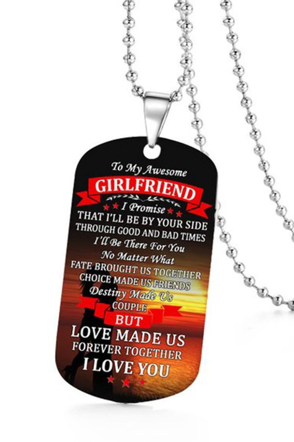 Dog Tags Necklace Girlfriend Gift Girlfriend Gift From