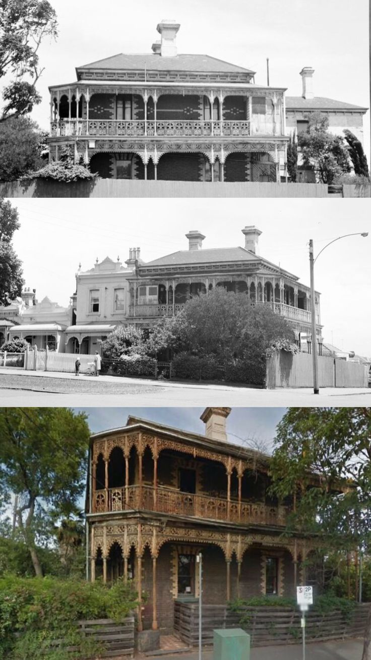 Milton Hall, North Melbourne, was built in 1884 for Robert Langford, fishmonger, property speculator, and Mayor of Hotham (Nth Melb). The large, elaborately decorated polychrome brick house originally had a tower (dismantled 1950s). It was converted to a boarding house in 1936 and fell into dilapidation before being purchased by its current owner in 1969 and reinstated as a family home. In 2015 one side of the verandah was restored courtesy of a grant from the VHRF.