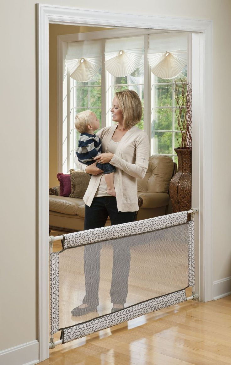 Evenflo Soft and Wide Baby Gate is pressure mounted and should only be used at the bottom of stairs.