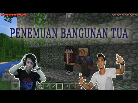 Minecraft PE Android part 3 Survival Penemuan Bangunan Tua