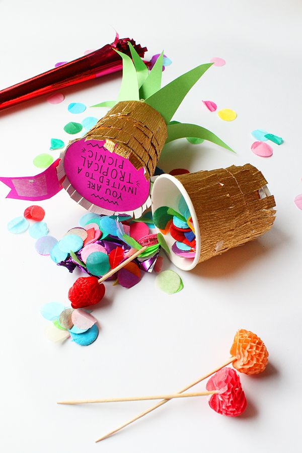 DIY: Pineapple Party Invitation | Oh Happy Day