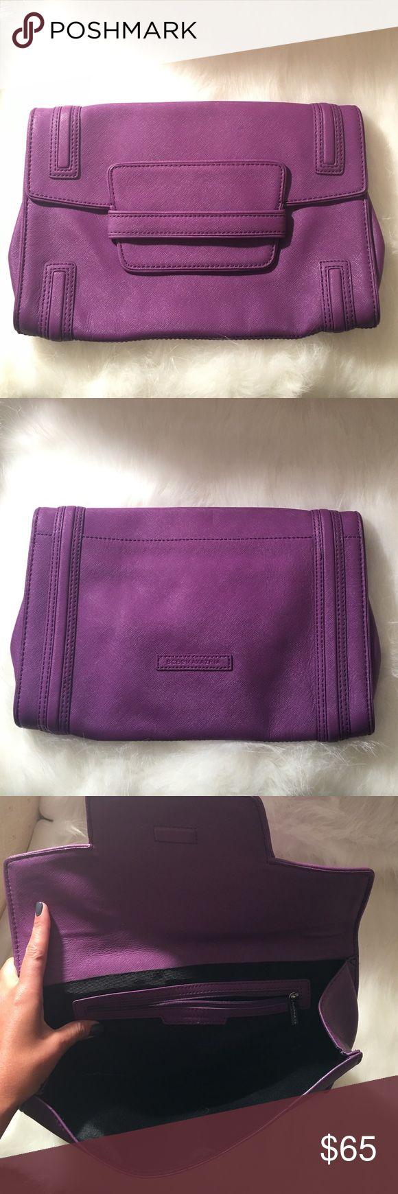 BCbg maxazria purple clutch Beautiful clutch used only once BCBGMaxAzria Bags Clutches & Wristlets