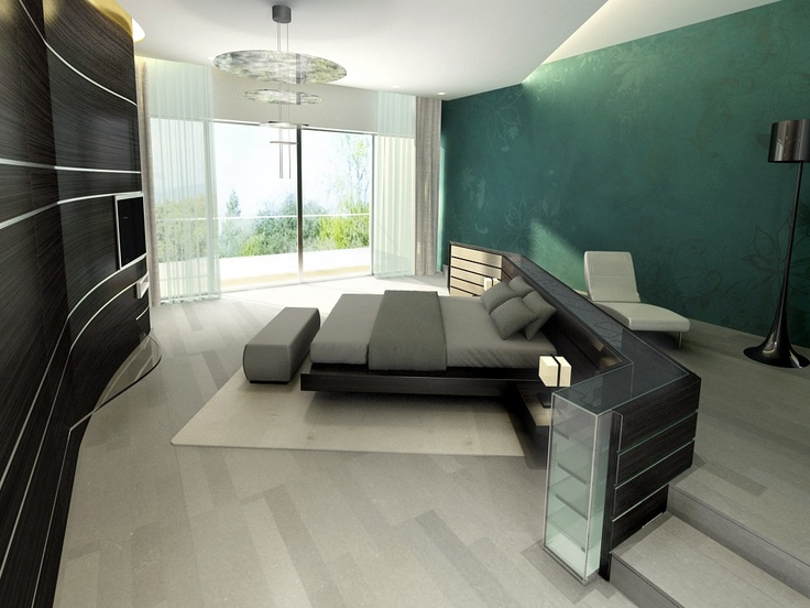 Master Bedroom Luxury, photorealistic rendering