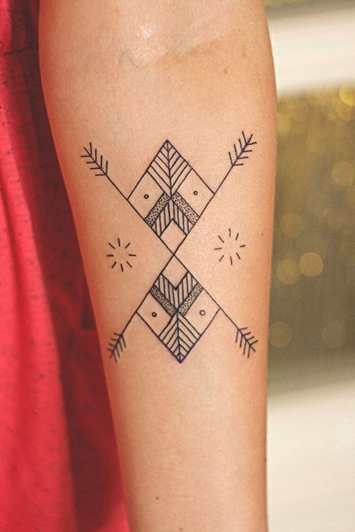 Clear and Simple Arm Tattoo Designs for Girls