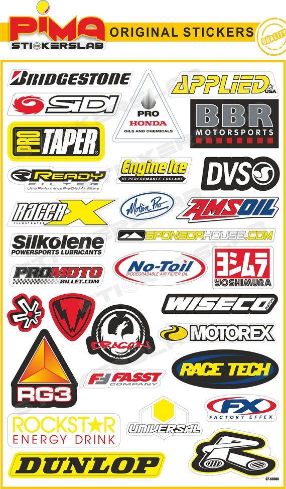 Adesivi Stickers moto motorcycle decal sheet di PIMAstickerslab