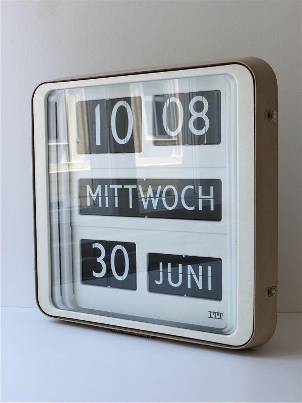"""1960s Giant 24"""" XXL Solari Udine Dator 10 Flip Clock Gino Valle Cifra Bodet"""