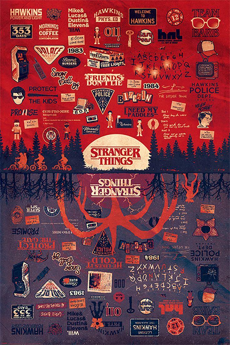 Stranger Things Poster The Upside Down Quadro stranger