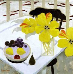 Mary Feddon still life with flowers