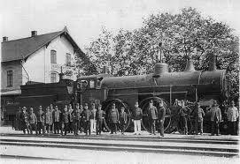 Nýřany nádraží, lokomotiva asi 108 kkStB