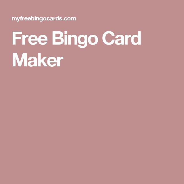 25+ best ideas about Bingo card maker on Pinterest : Bingo ...
