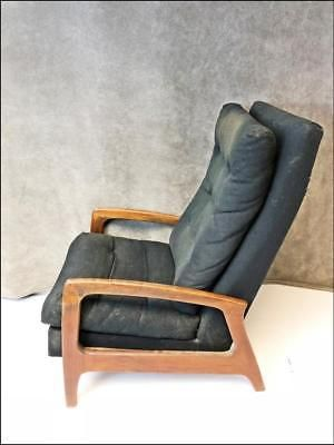 Adrian Pearsall Vintage Recliner Chair Mid Century Modern Wood Arm