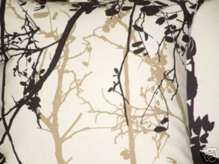 "2 x 18"" New Handmade Black Brown Bracken Print Design Funky Contemporary Designer Retro Pillowcases,Cushion Covers,Pillow. $38.00, via Etsy."