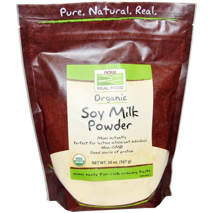 Now Foods, Real Food, Organic Soy Milk Powder, 20 oz (567 g) - iHerb.com