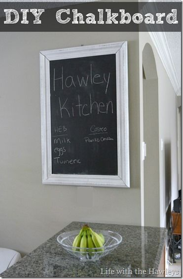 DIY Kitchen Chalkboard