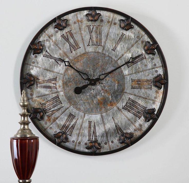 Uttermost Artemis Antique Wall Clock 06643 - Wall Clocks - Wall Decor