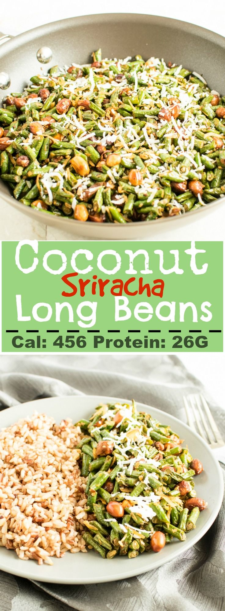 Coconut Sriracha Long Beans   Healthy, protein rich vegan and gluten free that can be enjoyed with rice or as a salad   kiipfit.com