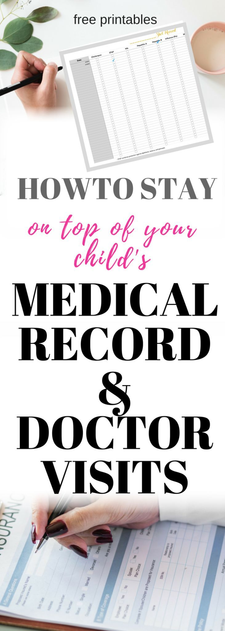 HOW TO MANAGE YOUR KIDS MEDICAL RECORDS +FREE PRINTABLE