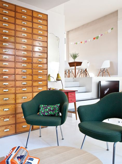 files!: Client Ideas, Dreamtho Drawers, Cards Catalog, Hands Things, File Cabinets, 2Nd Hands, Fleas Marketing Finding, Green Chairs, Chest Of Drawers