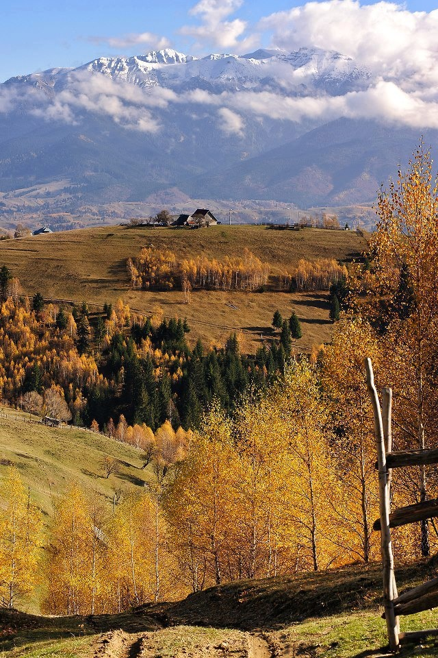 Romania covers 238,391 square kilometres (92,043 sq mi) of valleys, beautiful villages, hills and mountains (up to 2600 m high).romaniasfriends.com
