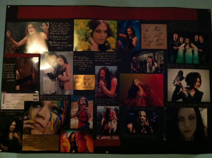Some Sharon-Tarja-Amy-Art for my wall with some favourite lyrics. I'm still searching for a fitting headline. Any ideas??